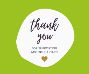 Thank you for supporting care